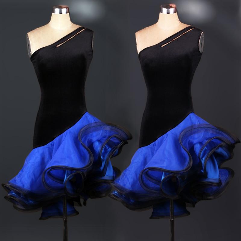 Jaunā Splicing Hit krāsu latīņu deju izrādes kleita rumba Samba kovboju buļļa latīņu konkurences deju kostīmi drēbes