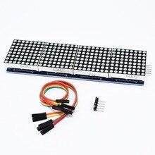 10 sztuk MAX7219 moduł macierzy punktowej mikrokontroler 4 w jednym wyświetlaczu z linią 5P 4 w 1