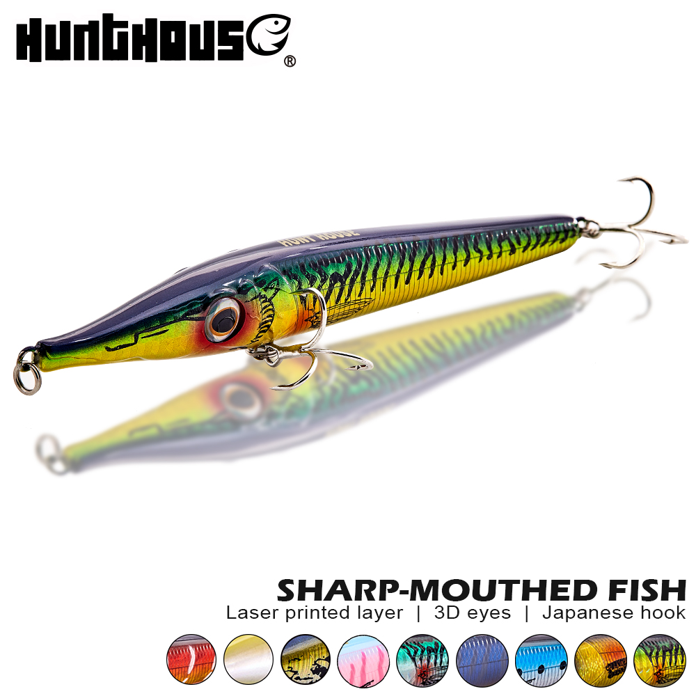 Hunthouse New Asturie Pencil Lure Stickbait Fishing Zargana Lure 146mm 19g Long Cast  Floating For Bass Garfish Free Shipping