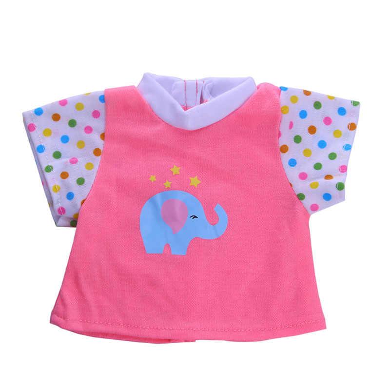 Elefante Azul bonito roupas Acessórios Fit 43 cm Boneca & n1414 18 polegada Roupa Da Boneca Presente Das Crianças