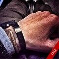 165-200 мм Браслет Из Нержавеющей Стали Мужчины Новая Мода Ржавчина Железо Черные Мужчины Широкий Манжеты Браслеты Браслеты Для Мужчин бренд Ювелирных Изделий