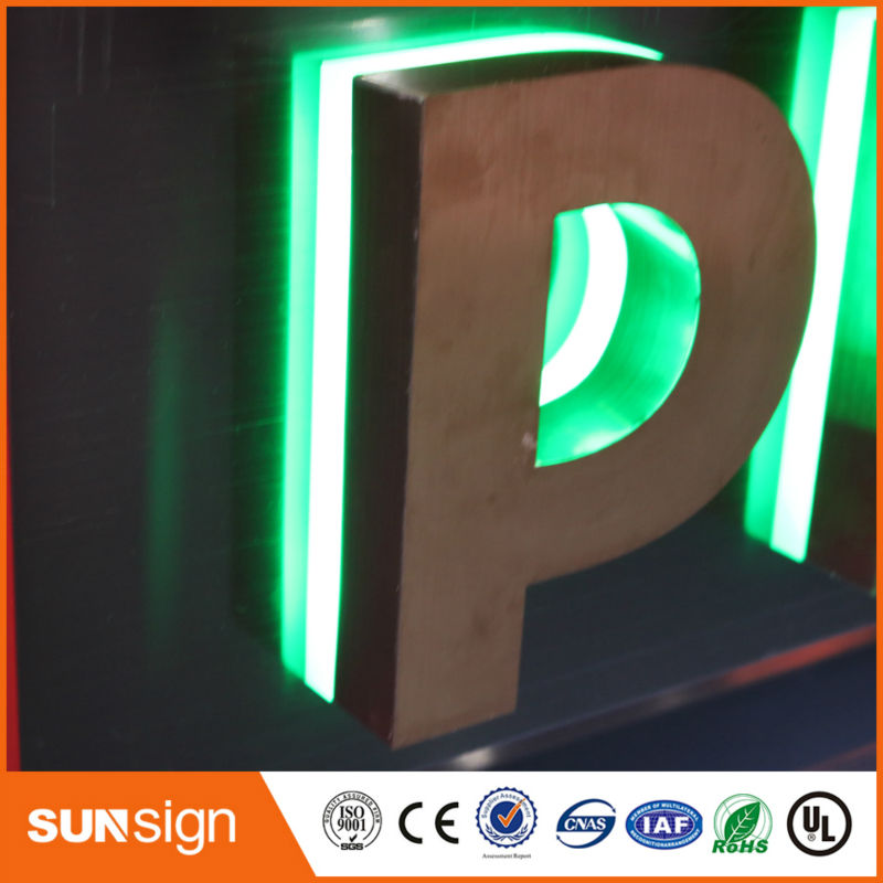 Wholesale Advertising Backlit LED Metal Letters For Signs