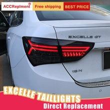 Nuevo conjunto de luces traseras LED para Buick EXCELLE XT 15 17 luces traseras LED de freno Luz de marcha atrás luces traseras DRL luces traseras de coche