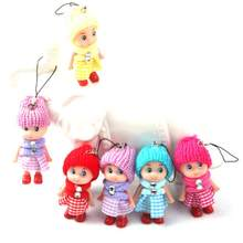 1pcs 2018 NEW Kids Toys Soft Interactive Baby Dolls Toy Mini Doll 8 CM For Girls Free Shipping(China)