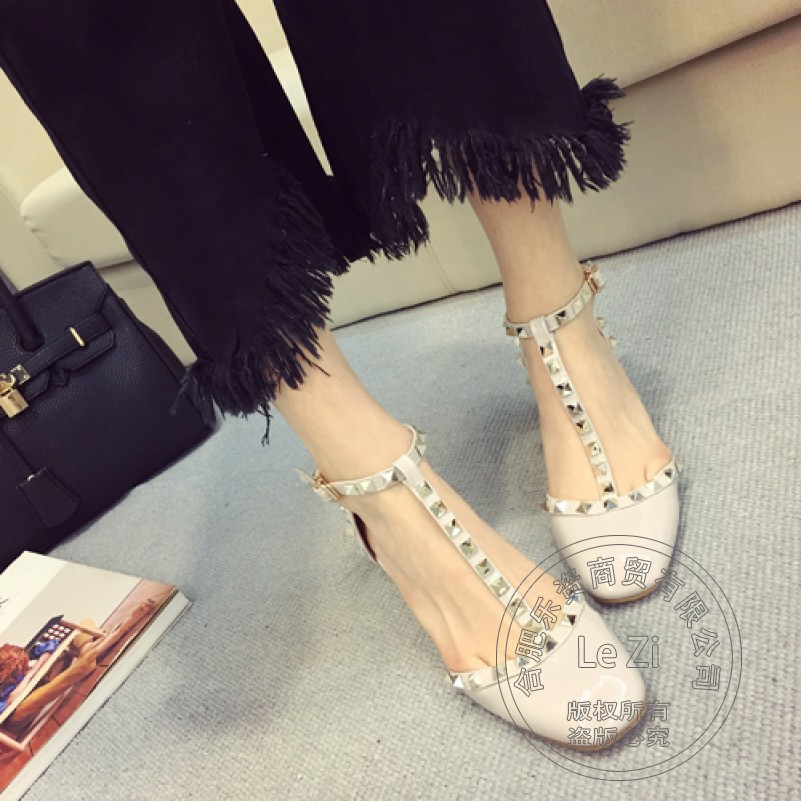 New Arrival Cheap Shoes China Pu Personality Coat Of Paint Safety Plain Round Toe Ladies Pumps