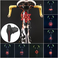 WHEEL UP Smart DIY LED Bicycle Taillight USB Rechargeable Bike Rear Lamp Lantern DIY Bicycle Seatpost