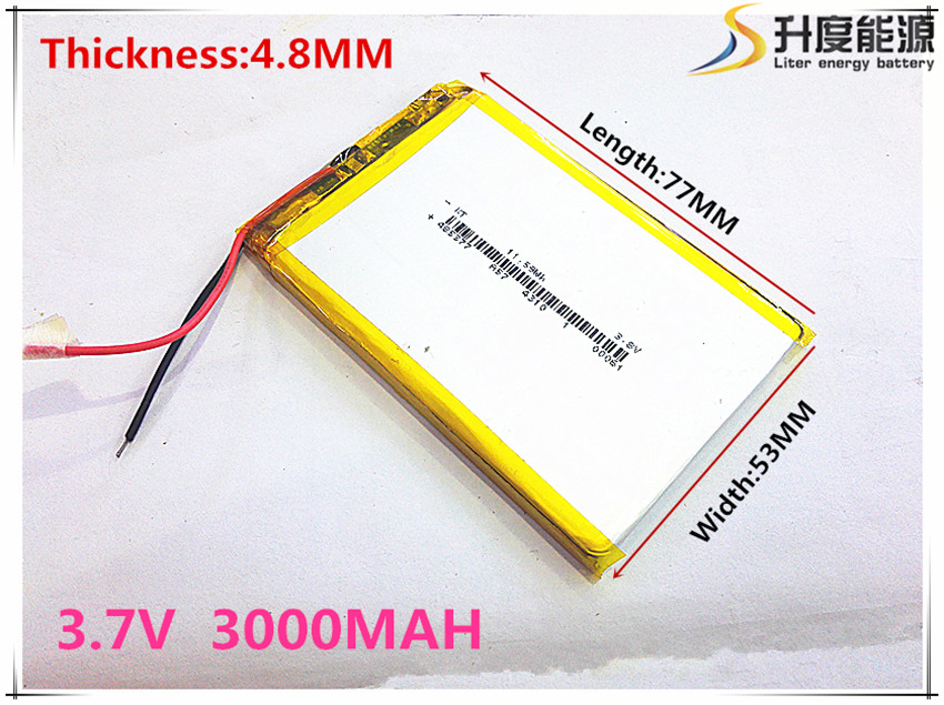 Size 485377 3.7V 3000 mah tablet battery With Protection Board For GPS Tablet PC Digital Products