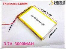 Tamaño 485377 3.7 V 3000 mah batería de la tableta Con la Junta de Protección Para GPS Tablet PC Productos Digitales