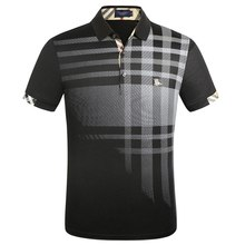 75aaa99a New Polo Shirt Brands 2019 Men Short Sleeve Fashion Casual Slim Deer Embroidery  Printing Men Polos
