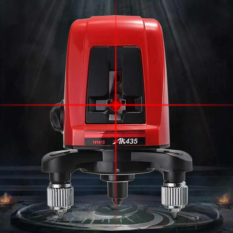 ALLSOME AK435 360 תואר עצמי פילוס צלב לייזר רמת Horizonatal אנכי קו לייזר רמה אדום 2 קו 1 נקודת HT2501