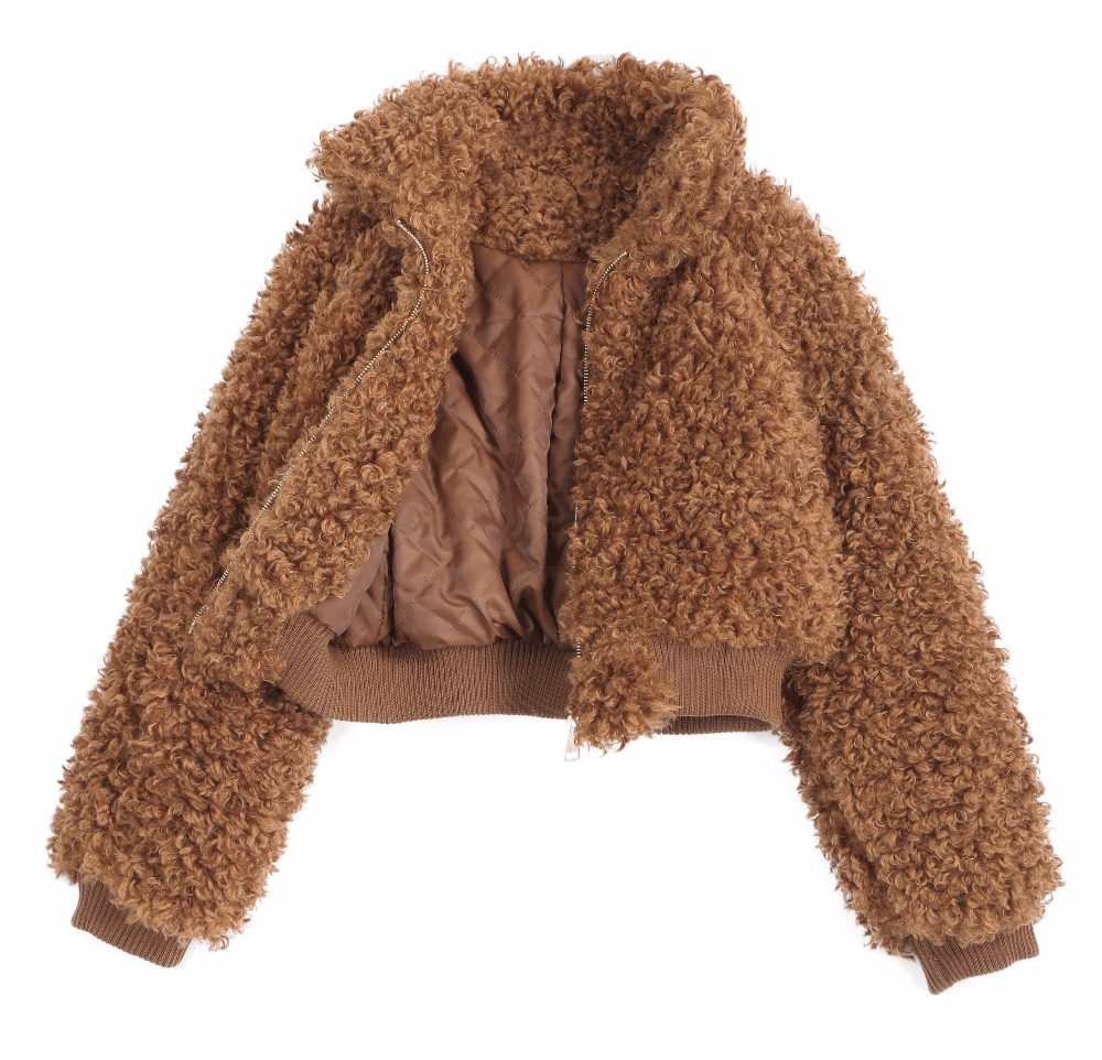 faux fur jacket coatwarm thick oversized lambswool jacket co