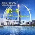 1.61 индекс оптические линзы обрезки MR-8 линзы без оправы кадр специальные линзы асферические функция покрытие бриллиантами зрелище