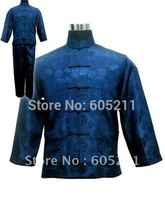 "Wholesale Newfashioned Chinese style A suit of Men's Kimono Robe/Gown Pyjamas Sleepwear Navy blue size S-3XL "" LGD M3020″"