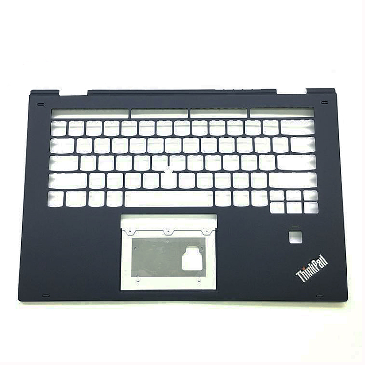 New Original for Lenovo ThinkPad X1 Yoga 2nd 20JD 20JE 20JF 20JG Palmrest Keyboard Bezel Cover with Fingerprint Hole SM10M69724 gzeele new for lenovo thinkpad s1 yoga keyboard bezel palmrest cover with touchpad and connecting cable 00hm067 00hm068 black c