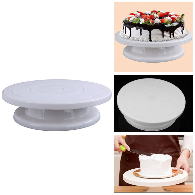 Kitchen,dining & Bar Gentle Kitchen Cake Plate Revolving Decoration Stand Platform Turntable Round Rotating Cake Swivel Christmas
