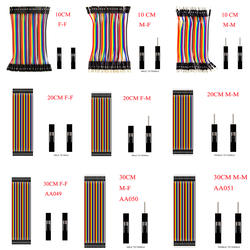 Dupont линия 10 см/см 20 см/30 см от мужчины к мужчине/от мужчины к мужчине или от женщины к женщине Перемычка провода Dupont кабель для arduino DIY KIT