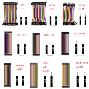 Dupont Line 10cm/20CM/30CM/40CM Male to Male / Female to Male or Female to Female Jumper Wire Dupont Cable for arduino DIY KIT(China)