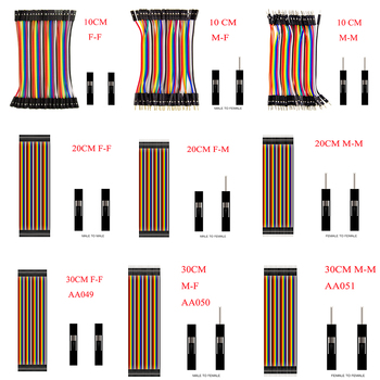 цена на Dupont Line 10cm/20CM/30CM/40CM Male to Male / Female to Male or Female to Female Jumper Wire Dupont Cable for arduino DIY KIT