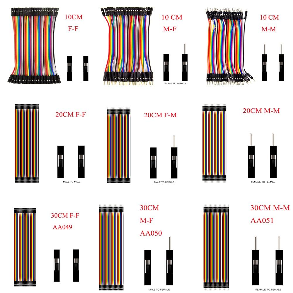 10//20CM Multi Dupont Male to Female Breadboard Jumper Wire Raspberry Pi ASS