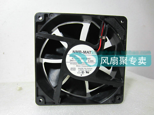 Original NMB-MAT 4715KL-05T-B40 24V 0.46A 12CM 12038 inverter drive cooling fan new original wfb1224he broo 12038 12cm 24v 0 50a 3 wire inverter fan