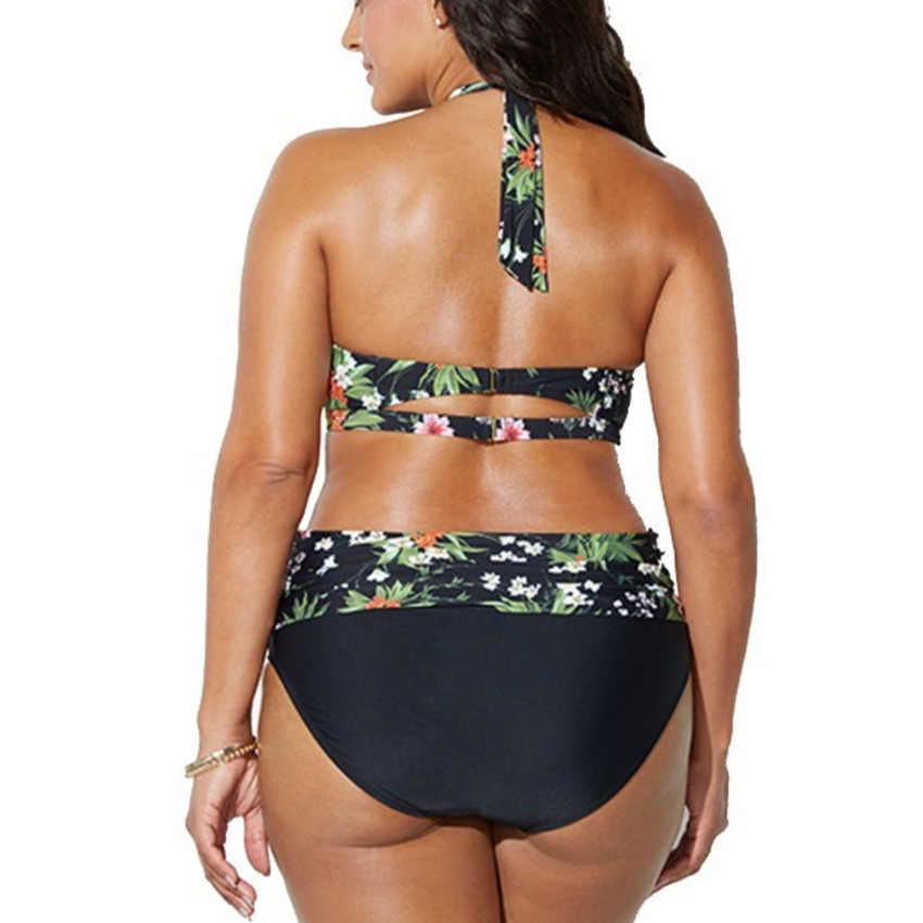 4cd9c742ee3 ... Bkning Plus Size Swimsuits Push Up Swimwear Women Halter Bathing Suit  Large Big Monokini May Swimming ...