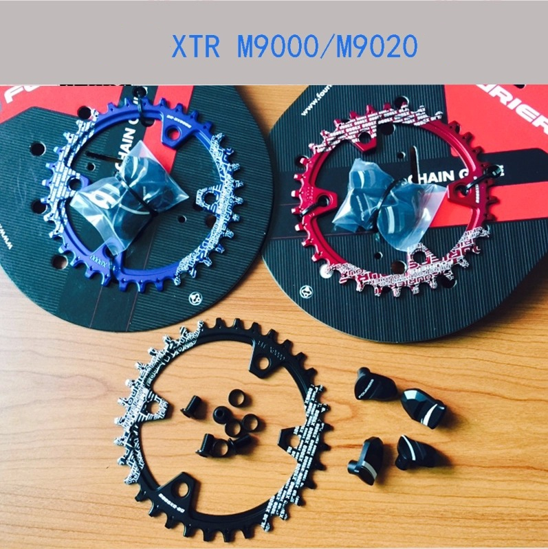 FOURIERS Bike Chainring Chain guard Narrow Wide bicycle chainrings for M9000/M9020 11 speed crank with custom crank cover caps cnc alloy mtb bike bicycle chain bash guard mount chainring guide 30 40t p c d 104mm bike crankset protection