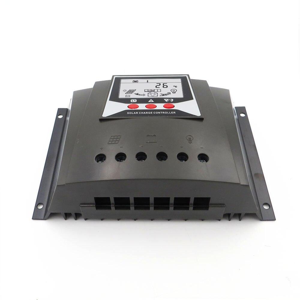60A 12V 24V 36V 48V Auto Backlight 60AMPS PWM Solar Charge controller Charger Regulators LiFePO4 lithium