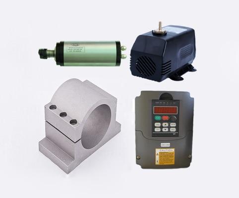 2,2 kW 3 KM 24000 obr./min ER20 80 mm Silnik wrzeciona chłodzącego wodą i 2,2 kW 3-fazowy falownik 220 V VFD i wspornik i zestawy CNC