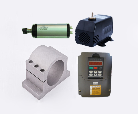 2.2kw 3hp 24000rpm ER20 80mm水冷スピンドルモーター&2.2kw 3相220V VFDインバーター&ブラケット&ポンプCNCキット