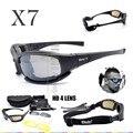 Óculos de Proteção DAISY X7 4LS Militar Homens Óculos polarizados à prova de Bala-tiro airsoft Gafas lente fumaça Motocicleta Ciclismo Goggles