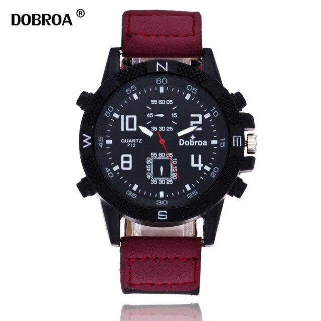 DOBROA Watch Men Bayan Kol Saati 4 Digital Large Dial Quartz Watch Sport Watch Relogio Masculino Chronograph Military Army Watch