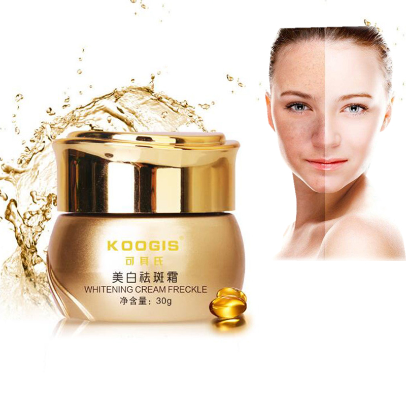 KOOGIS Whitening Removing Freckle Cream Face Care Cream Makeup Desalination Colored Patches Facial Essence Brighten Skin Care