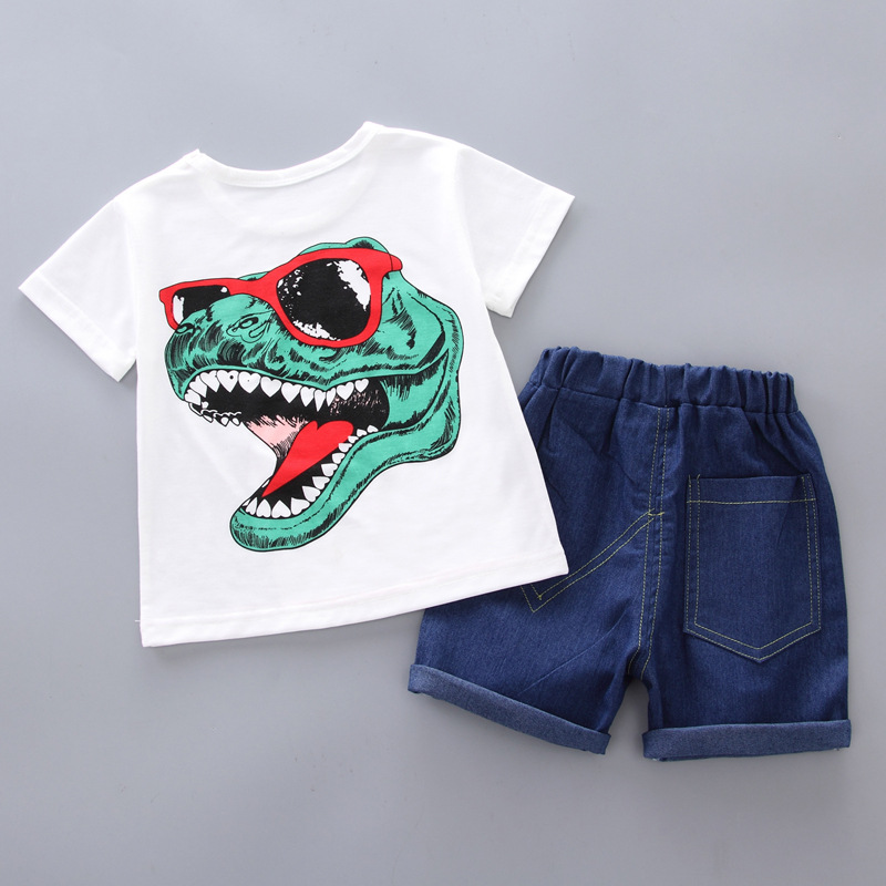 Baby Boy Clothes T shirt Tops Shorts Casual Outfit Set Newborn Boy Clothes Summer Kids T Shirt Set in Clothing Sets from Mother Kids