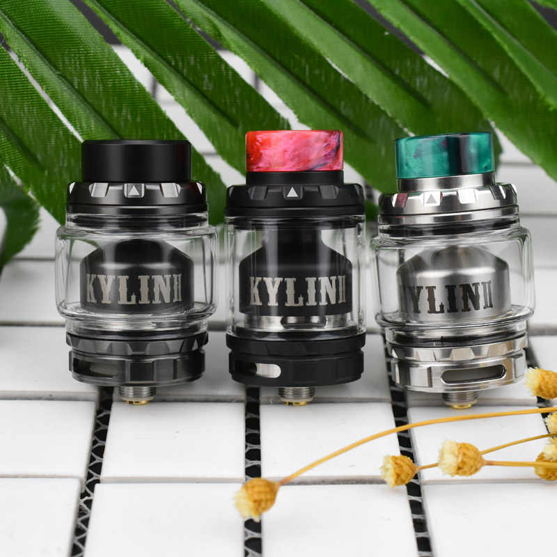 Original Vandy Vape Kylin V2 RTA Tank 3ML 5ML E Cigarette Vandyvape Atomizer Beveled Airflow Support Single Dual Coil Deck Build