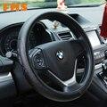Diâmetro 38 cm Acessórios Do Carro Elegante Luxo Tampa Da Roda de Direcção Do Carro Do Couro Genuíno Respirável E Anti-slip Fit Para AUDI BNW