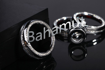 FREE SHIPMENT Silver Air Condition Outlet Knob Cover Trim For Range Rover Evoque/Sport 4pcs