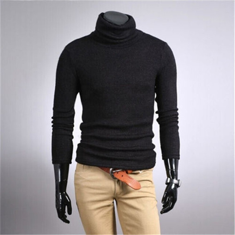 ac76e9de7 Mens Thermal Cotton Turtle Polo Neck Skivvy Turtleneck Sweater Shirts-in  Pullovers from Men s Clothing on Aliexpress.com