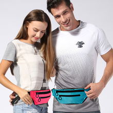 Outdoor running waist bag Pouch Sport leisure Belt Waterproof Mobile Phone holder Jogging Women Gym Bag Fanny pockets