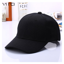 2017 Black Cap Solid Color Baseball Cap Snapback Caps Casquette Hats Fitted Casual Gorras Hip Hop Dad Hats For Men Women Unisex(China)