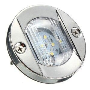 Image 4 - 12 V LED Marine Boot Yacht Schwanz Licht Edelstahl Weiß Anchor Heck Licht Wasserdicht
