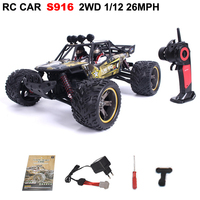 S916 1/12 2WD 38km/h High Speed Off RoadTruck RC Car Desert Rock Crawler Vehicle electric Remote Control vehicle model Kids toy