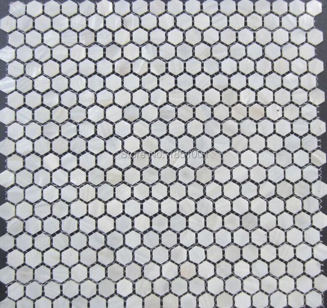 Bianco Esagono Madreperla Mattonelle Di Mosaico; Bagno Cucina Backsplash  Mattonelle Di Mosaico Sfondo Muro;