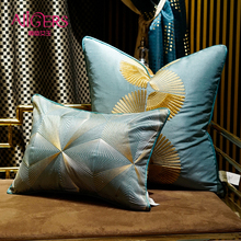 Avigers Luxury Home Decorative Green Blue Cushion Covers Embroidery Throw Pillow Cases Square Customized Pillowcase for Sofa Car цены