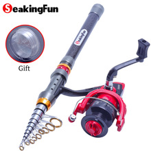 Wholesale prices SeakingFun 1.8-3.6 m Fishing rod Spinning Fishing Rod with Left and Right Hand Interchangeable Fishing Reel Winter Fishing Rod