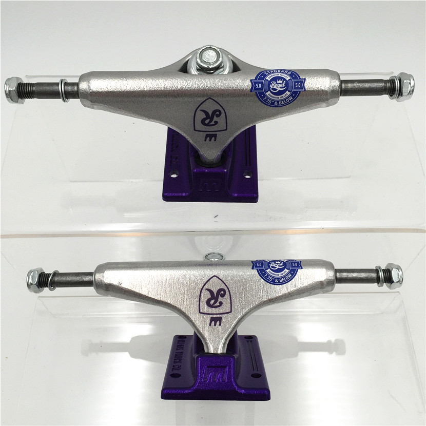 Image 5 - Original USA 5.0  inch Royal Trucks for Skateboarding made by Aluminum for 2 Types Caminhao trucks kaykay-in Skate Board from Sports & Entertainment