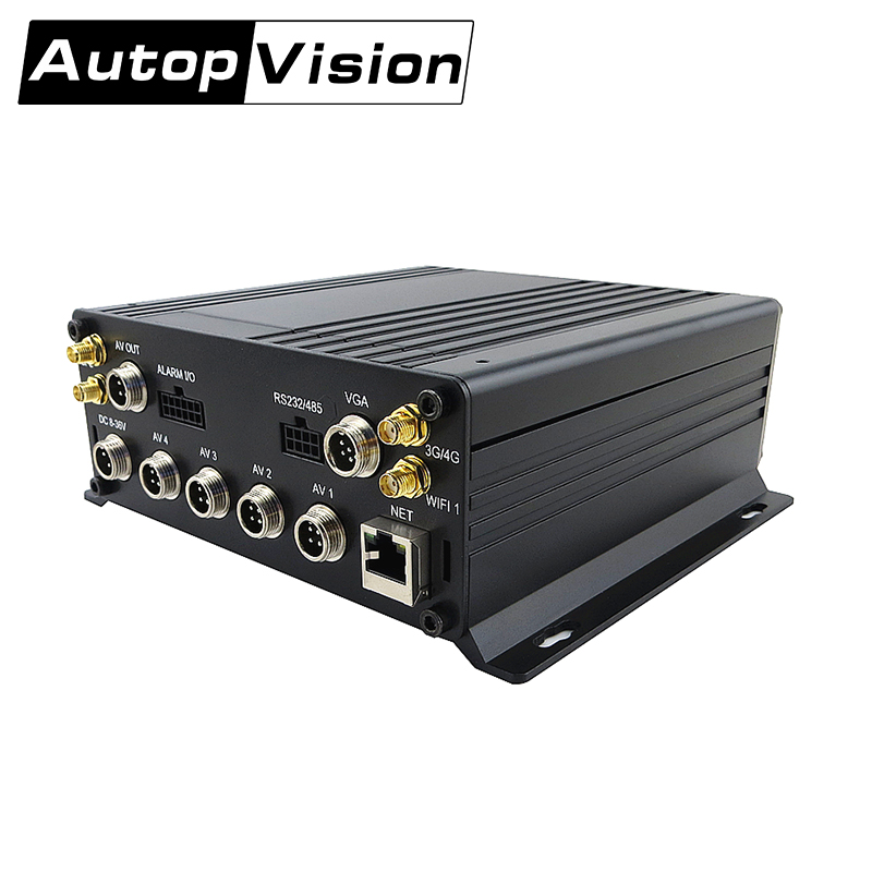 MDR8114 4CH AHD 720P Car Black Mobile DVR for bus taxi school office camera Strong Stable Application support Real-time monitor inexpensive 4 channel d1 car dvr used for taxi bus truck long vehicle school bus driving school car sold by brandoo