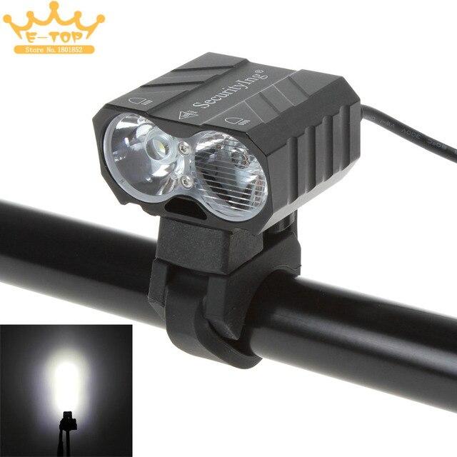 SecurityIng 5000 Люмен 2 х T6 Сид Перезаряжаемые Поворотный Сова Ночь Велосипедов Лампа с Аккумулятором и Зарядным Устройством