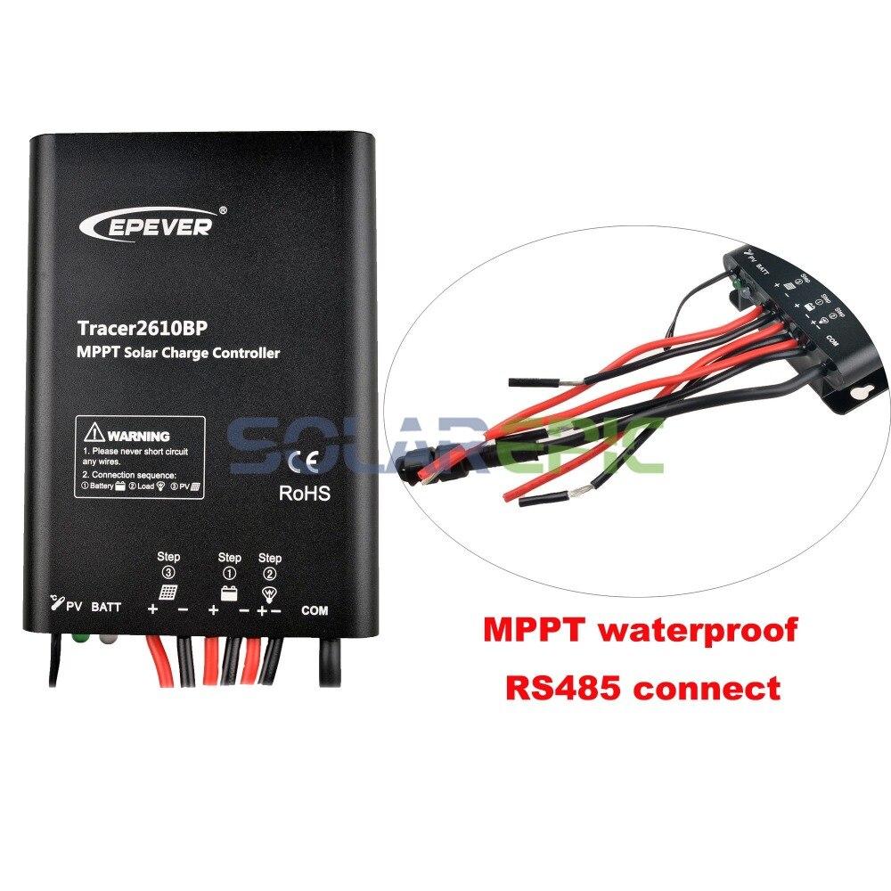 Epever 10A MPPT Solar Charge Controller 12V/24V Waterproof Regulator TracerBP Lithium Battery MPPT Controller 60V/100V PV Input