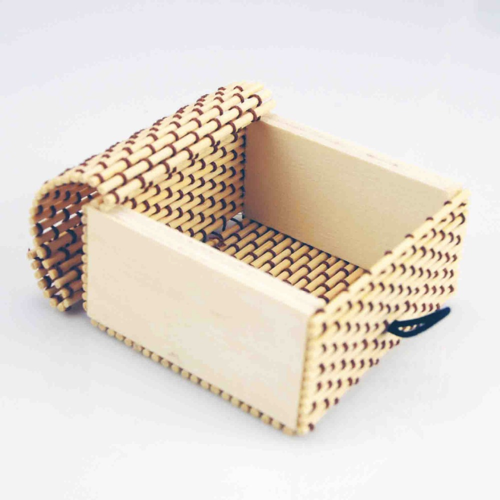 Hot sale Handmade Small Bamboo jewelry box necklace Case accessories