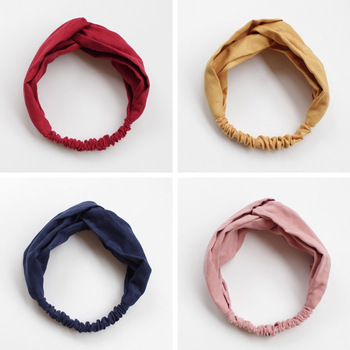 Women Spring Suede Soft Solid Headbands